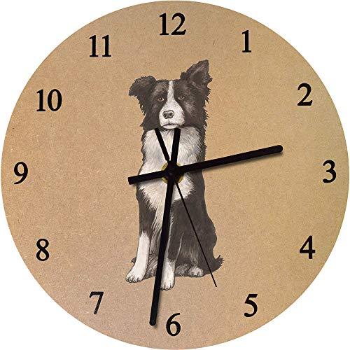 Azeeda 275mm 'Border Collie' Große MDF-Uhr (CK00025021) -