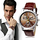 Men's Watch, Toamen New Luxury Fashion Crocodile Faux Leather Mens Analog Watch Watches