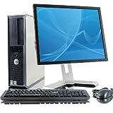 Barato Dell OptiPlex ORDENADOR PC CON 43cm LCD TFT Dell Monitor Intel Dual Core Procesador 4gb DDR2 RAM and 250gb HDD Windows 10 Pro y WIFI ADAPTADOR
