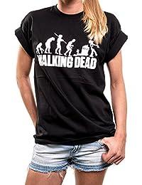 Oversize Shirt schwarz Zombie Evolution - Walking Dead T-Shirt große Größen locker und lässig geschnitten