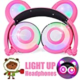 Kinder Kopfhörer Anime Bären Ohr AMENON USB wiederaufladbare verdrahtet faltbar