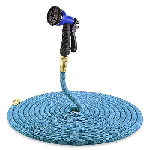 BEST OF BEST Tuyau d'arrosage extensible Tuyau d'eau d'égouttement d'arrosage arroser Home Garden Serre tuyaux flexibles 100FT bleu