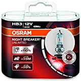 OSRAM NIGHT BREAKER UNLIMITED HB3, Halogen-Scheinwerferlampe, 9005NBU-HCB, 12V PKW, Duobox (2 Stück)