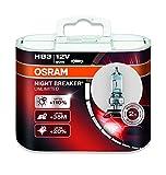 OSRAM NIGHT BREAKER UNLIMITED HB3, Halogen-Scheinwerferlampe, 9005NBU-HCB, 12V PKW, Duobox (2 Stück)