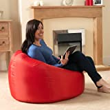 Bean Bag Bazaar Panelled XL Bean Bag Chair Indoor/Outdoor BROWN - Extra Large WATERPROOF Bean Bags