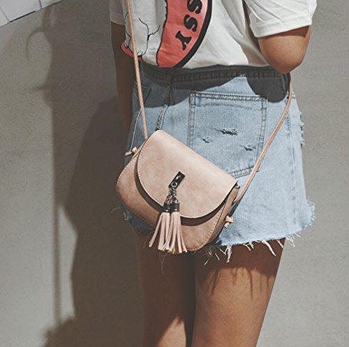 Imagen de bolsos de pequeña bandolera piel de baratos bolso de mano rosado para mujer niñas por esailq alternativa