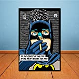 ZEMER Batman Peinture des Impressions sur Toile Murale pour Enfant Photos DC Comics Super-héros l'impression de Poster pour Le Salon Home (Pas de Cadre) 20x30cm