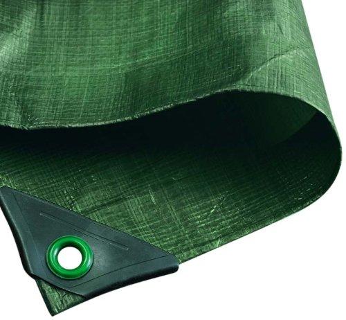 NOOR Abdeckplane HOBBY 120g/m² Grün I 6 x 8 m I Allzweckplane für Schutz vor Witterung I Ideal geeignet für den Garten I UV-stabilisiert, beidseitig beschichtet, wasserfest, abwaschbar & langhaltig