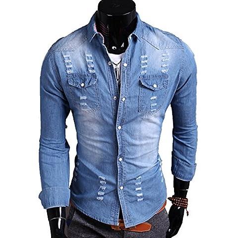 ZG&DD - Camisa casual - Button Down - Manga Larga - para hombre