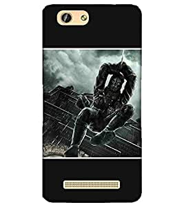 For Gionee F103 dangerous man, man with sword, sword, building, rain Designer Printed High Quality Smooth Matte Protective Mobile Pouch Back Case Cover by BUZZWORLD