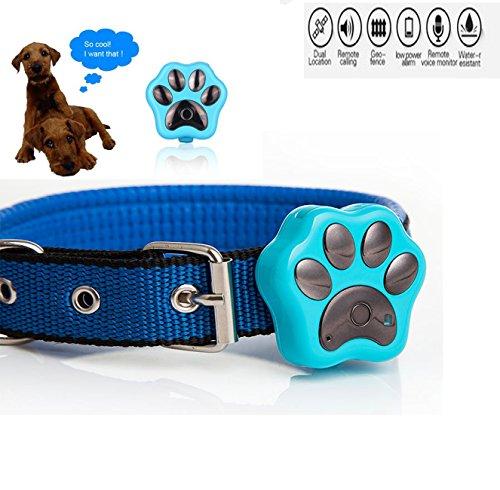 Collar Funwill impermeable rastreador de mascota con GPS, wifi, flash LED. Collar...