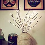 LED Lichterzweige im warmweiss Forepin 2er Set 40 LEDs Lichterbaum LED Baum Lichterzweig Dekobeleuchtung für Innen und Außen