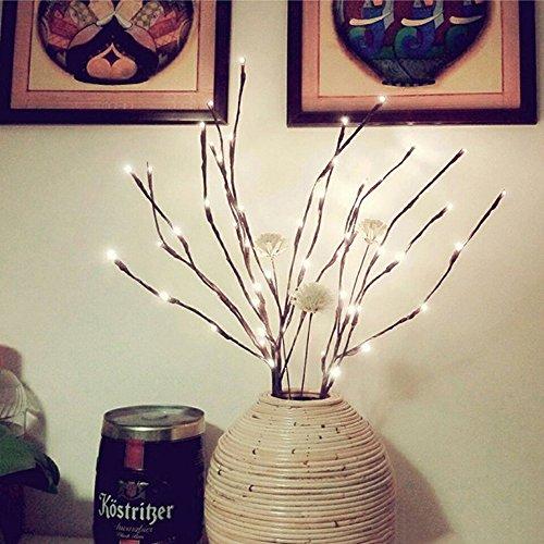 LED Lichterzweige im warmweiss Forepin® 2er Set 40 LEDs Lichterbaum LED Baum Lichterzweig Dekobeleuchtung für Innen und Außen -