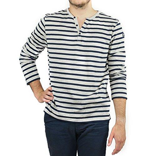 brian-gris-chine-marine-tee-shirt-homme-manches-longues-hublot-xl-multicolor
