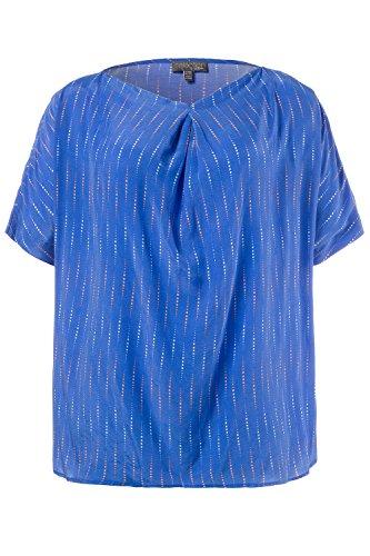 Ulla Popken Femme Grandes Tailles Tunique 710778 Bleu