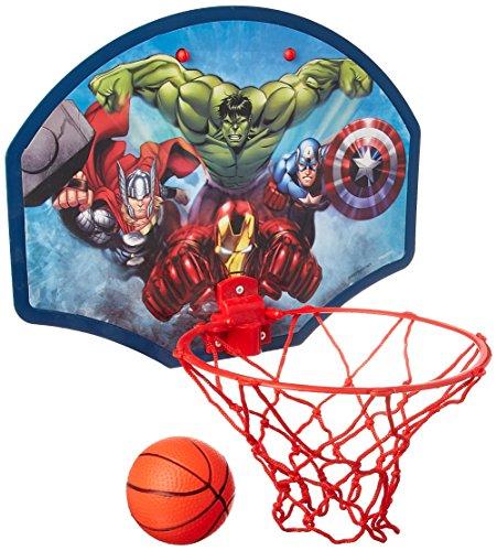 Marvel Avengers Hulks Thor Captain America 34,3x 25,4cm Basketball-Set Ball, Reifen, Netz und Tür Kleiderbügel