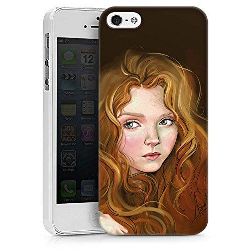 Apple iPhone X Silikon Hülle Case Schutzhülle Mädchen Frau Kunst Hard Case weiß