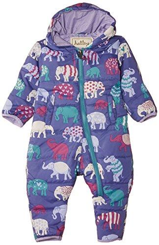 Hatley Baby Girls Infant Polyester Bundler Patterned Elephants Snowsuit, Purple, 6-12 Months