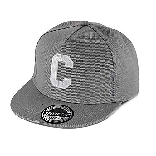 Hut Regale Kinder S Buchstaben Sommer Baseball Cap Boys C Hip-Hop einstellbar lässig Schulmütze Mädchen Mütze , Grau