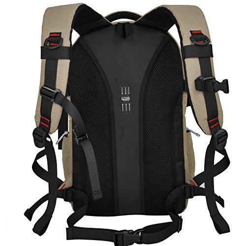 YAAGLE Atmungsaktiv Sommer SLR Kameratasche abnehmbar professional Digital Rucksack Gepäck Reisetasche Schultertasche Khaki