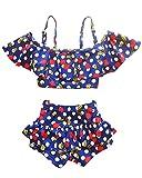 Moollyfox Bébé Enfant Fille Ensemble Set de Bikini Maillots Deux Pièces Cerise Débardeur Princesse Haut + Culotte