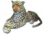 Stofftier, realistischer Leopard, gefüllt, weich, 100cm groß