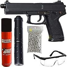 Asg Paquete Completo con Accesorios - Pistola para Airsoft, Modelo MK 23 de Gas,