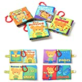 New Cloth Book Baby Picture Cognize Book Kids Boys Girls Intelligence Development Educational Toys friendGG Early Educational Activity Toy Infant Wisdom Puzzle Toddlers Game (random, 19x23cm)