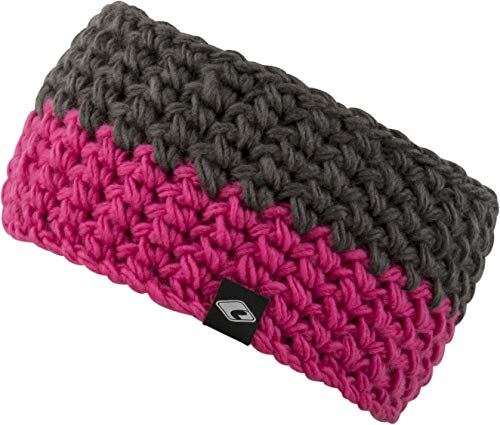 FEINZWIRN Strick-Kopfband mit Fleece innen für Damen - warmes Stirnband Haarband (pink)