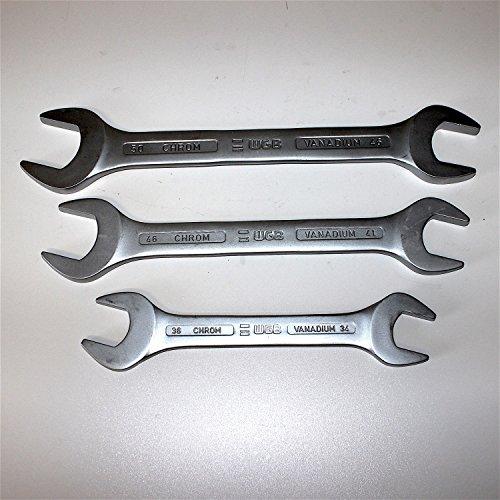 Maul-Ringschlüssel Set Ringmaulschlüssel S-Form Ring-Maulschlüssel 5-tlg 10-19mm