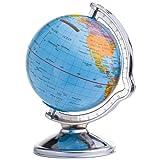 Spardose in Form eines Globus Weltkugel drehbar aus kunststoff von noTrash2003