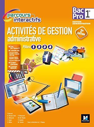 Parcours Interactifs - Activités de gestion administrative - 1re BAC PRO GA - Manuel élève