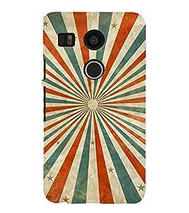 MULTICOLOURED SUN RAYS LINES PATTERN 3D Hard Polycarbonate Designer Back Case Cover for LG Google Nexus 5X :: LG Google Nexus 5X (2nd Gen) :: Google Nexus 5X :: Nexus 5X (2015)