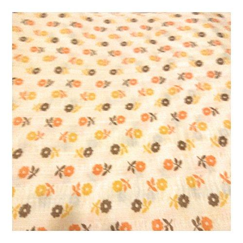Orange Creme Calico-Baumwolle-2Meter -