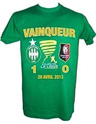 T-shirt ASSE - VAINQUEUR Finale Coupe de la Ligue 2013 contre le Stade Rennais - Collection officielle SAINT ETIENNE - Tee shirt enfant