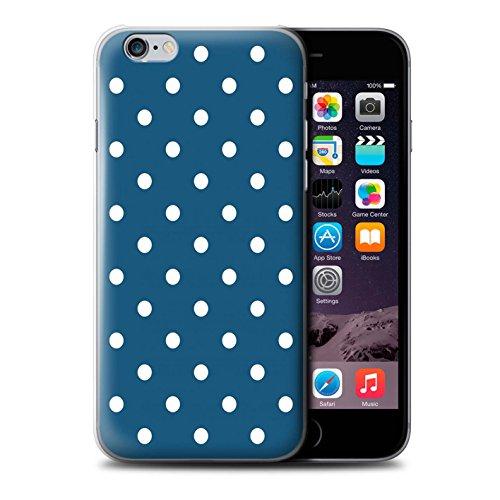 Coque de Stuff4 / Coque pour Apple iPhone 6 / Zig Zag Bleu Design / Mode Hivernale Collection Sarcelle À Pois