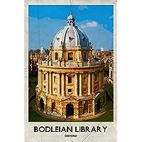 Oxford Bodleian Library Retro Poster Di