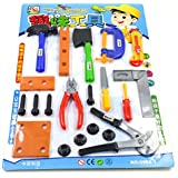 NUOLUX 21pcs Kids Builder Tool Set DIY Engineer Role Play Toy For Kids Children Boys