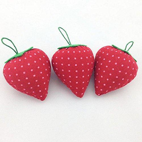 beautybouse 2Erdbeere Nadelkissen Kissen Halterung für Nadel Aufbewahrung Nähen Craft hilfreich Tools (Pin Handgelenk Halterung)