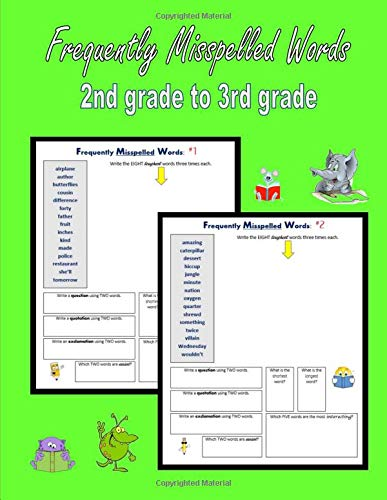 Frequently Misspelled Words (2nd grade to 3rd grade): 300 Confusing Spelling Words (Spelling for Homeschoolers) por C. Mahoney