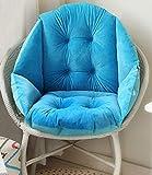 IPENNY Stuhlauflage Dicke Stuhlkissen mit Rückenteil Warm Sitzauflage Sitzpolster für Gartenmöbel wie Hochlehner Gartenstuhl angenehme Polsterauflage für Büro Auto und Schule