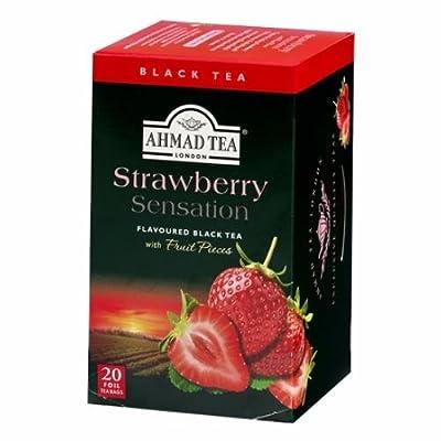 Thé Noir à la fraise - Ahmad Tea London - Boite de 20 sachets