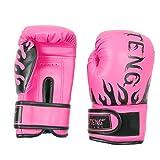sourcing map Paar SUTENG Autorisierte Erwachsene Training PU Boxsack Handschuhe Boxhandschuhe pink DE