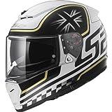LS2FF390breaker-Casco integrale motocicletta, colore bianco/nero