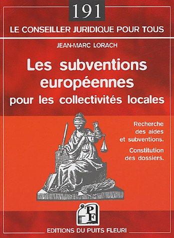 Les subventions européennes pour les collectivités locales