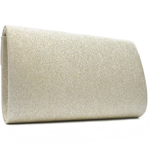 Vain Secrets Damen Umhänge Tasche Clutch Abendtaschen in vielen Farben Gold Strass