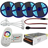 20m LED RGB Streifen Lichtsets 1200 LEDs 5050 SMD Fernbedienungskontrolle Schneidbar Abblendbar 100-240V für Decke Bar Counter Party Feiertagsdekoration