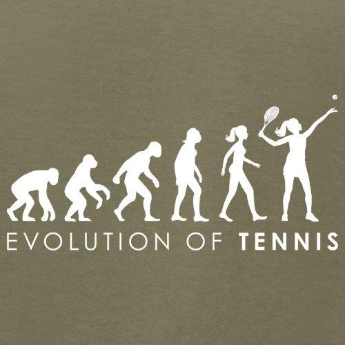 Evolution of Woman - Tennis - Herren T-Shirt - 13 Farben Khaki