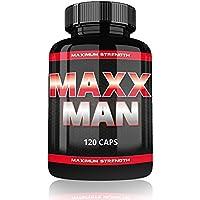 Maxx Man By Varg Power | 120 Kapseln | Beliebt bei Kraftssportler und Bodybuilder | Hochdosierte Formel mit Tribulus Avena Sativa Creatin | Für die Muskelaufbau Phase | Auf Pharma Niveau Hergestellt