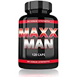 Varg Power Maxx Man Testo Booster Extreme | 120 Kapseln | Für Muskelaufbau Phase | Beliebt bei Bodybuilding Männer | Hochdosierte Formel mit Tribulus Terrestris Avena Sativa Creatin Monohydrat | Auf Pharma Niveau Hergestellt
